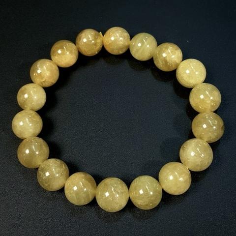 Бусины берилл желтый (гелиодор) АА шар гладкий 12 мм 17 бусин