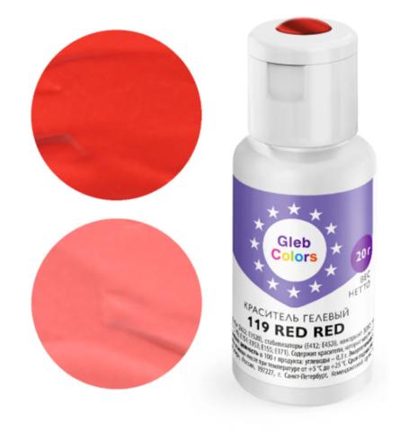 Краситель гелевый Cake Colors 119 Красный красный, 20г