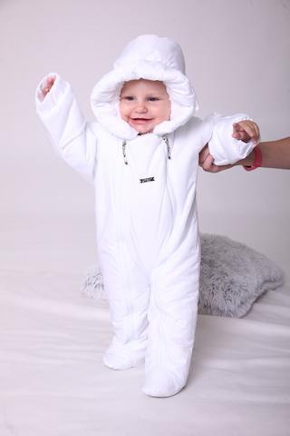 Зимний комбинезон для новорождённых Зимушка белый