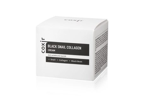 Крем для лица с коллагеном и муцином черной улитки Coxir Black Snail Collagen Cream