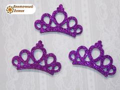 Заготовка корона маленькая фиолетовая № 1