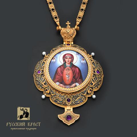 Панагия с иконой Божья Матерь Албазинская