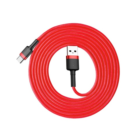Кабель Baseus cafule Cable USB For Type-C 2A 2M Red+Red