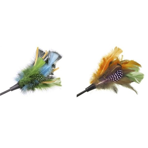 NEMS дразнилка для кошки с перьями 2 цвета