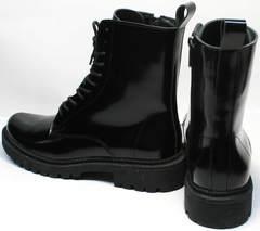 Зимние высокие ботинки женские Ari Andano 740 Milk Black.