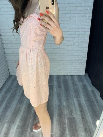 розовый сарафан на лямках недорого
