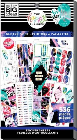 Блокнот со стикерами для ежедневника Value Pack Stickers - Splattered Paint- 536шт
