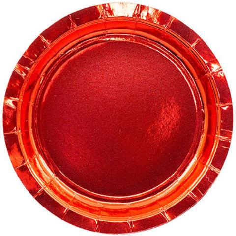 Тарелки блестящие красные 17 см