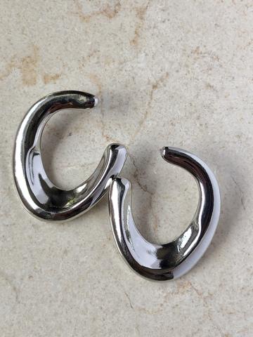 Серьги Севилья, серебряный цвет