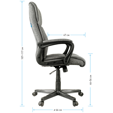 HL-E23 Кресло руководителя Canvas (Helmi)