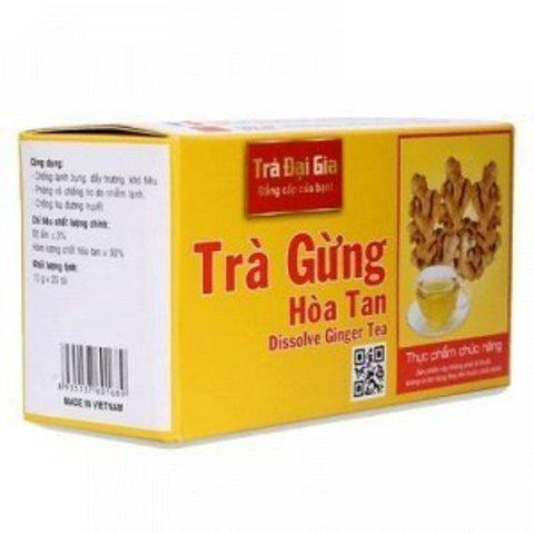 Растворимый имбирный чай Tra Dai Gia - Коробка 50х20 штук.