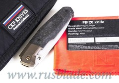 CKF/Philippe Jourget collab FIF20Ti B (M390, Ti bolster, spacer, cool CF)