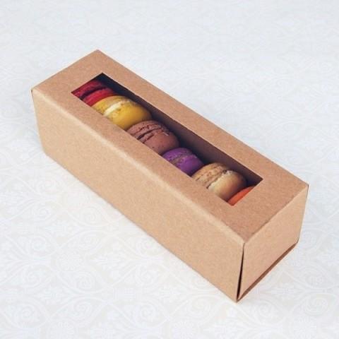 Упаковка для 6 макарун (крафт)