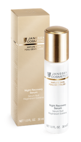 Ночная восстанавливающая сыворотка Anti-age с комплексом Cellular Regeneration, Janssen Night Recovery Serum,30 мл