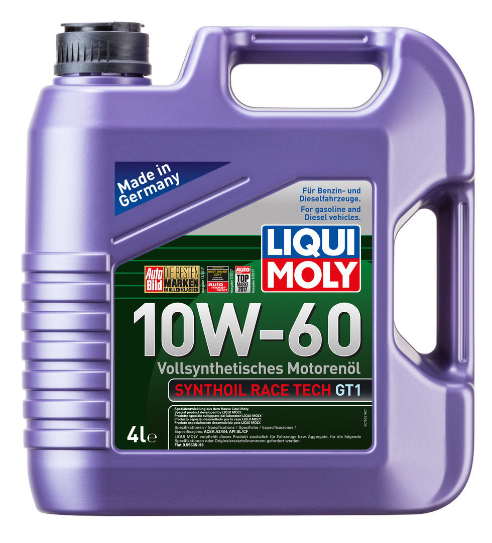 Liqui Moly Synthoil Race Tech GT1 10W60 Синтетическое моторное масло