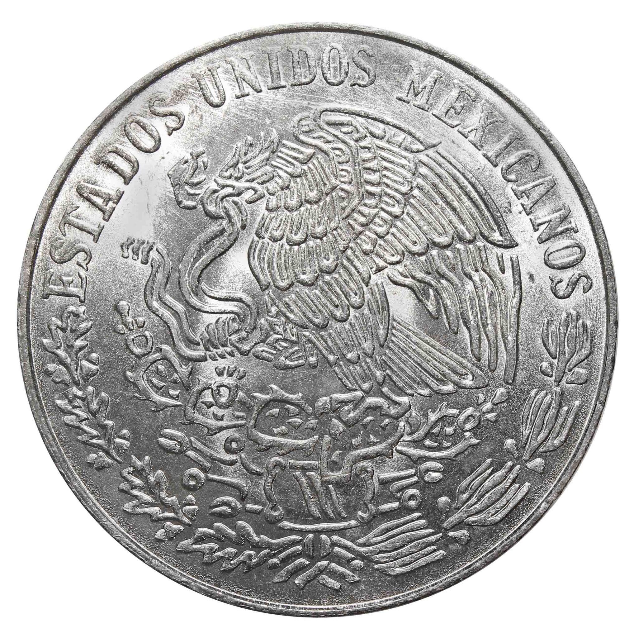 25 песо. 100 лет со дня смерти Бенито Хуареса. 1972 год. Серебро. AU