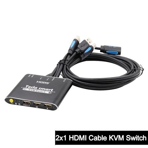 Switch 2x1 4K HDMI кабельный KVM переключатель + usb