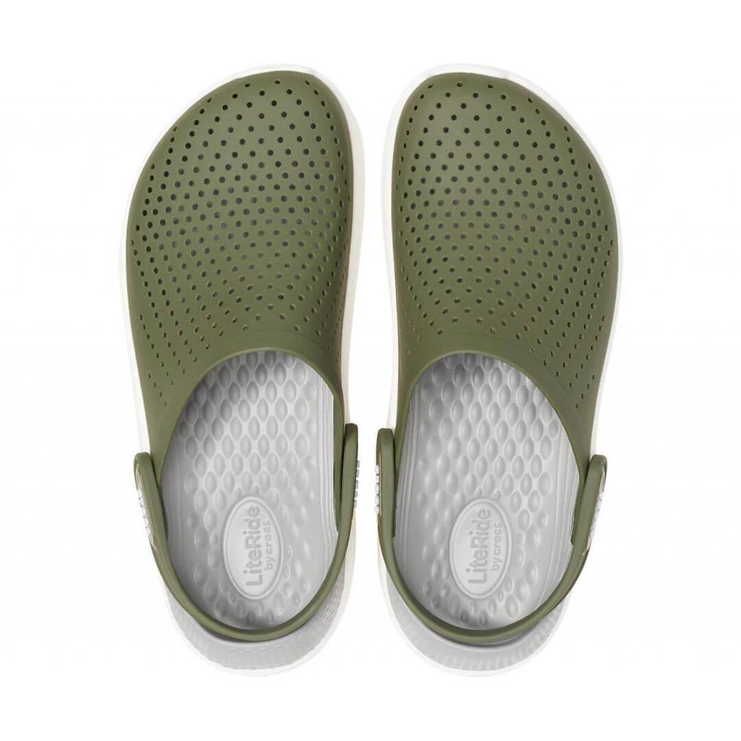 Сабо Crocs LiteRide Clog Army Green White