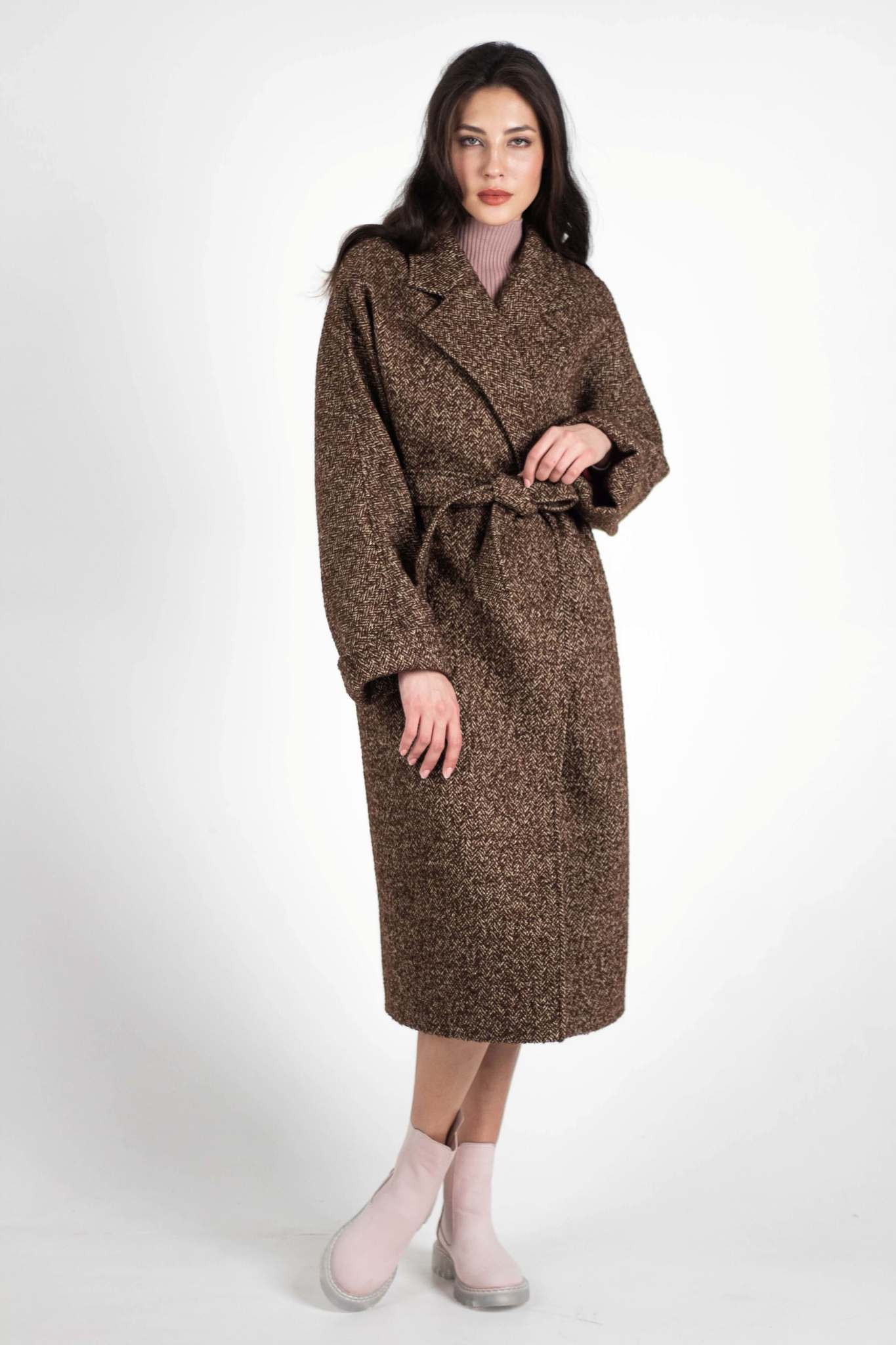Пальто-халат удлиненное