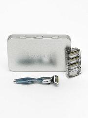 Shave Lab SEIS Blue Бритва для мужчин Синиий/серебро, комплект 6 лезвий х 4шт.