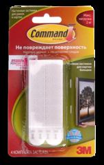 Клейкие застежки для рамок Command, большие, до 2 кг (1 шт.)