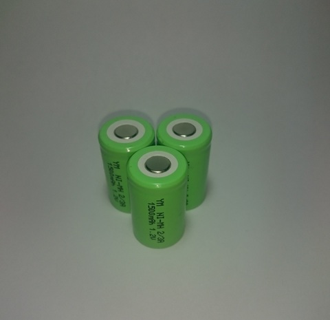 Аккумулятор 2/3A  Ni-Mh 1500mAh 1,2V 1,8Wh