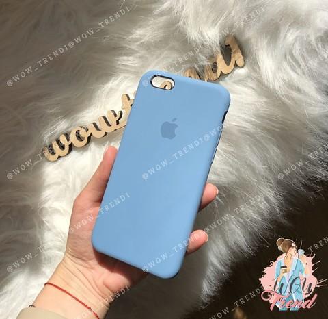 Чехол iPhone 6+/6s+ Silicone Case /azure/ джинс 1:1