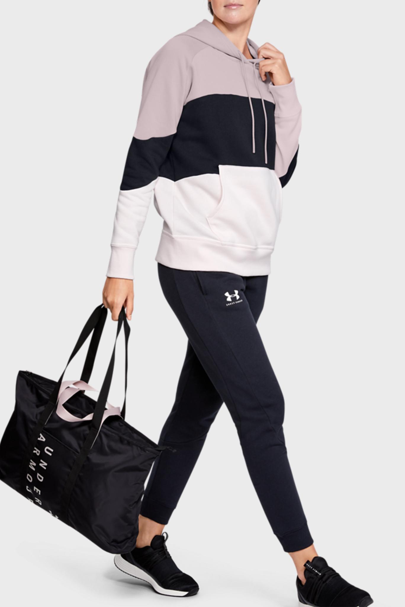 Женское розовое худи Rival Fleece Color block Under Armour