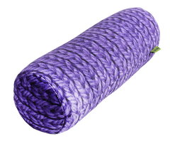 Валик-подушка Gekoko «Вязаный валик», фиолетовая, антистресс 2