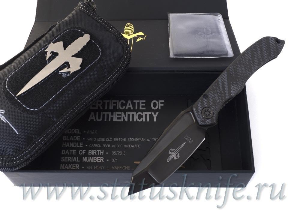 Нож Marfione Custom Anax CF Tritium DLC Tri Tone Tanto - фотография