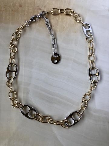 Колье Дакота, позолота и серебряный цвет