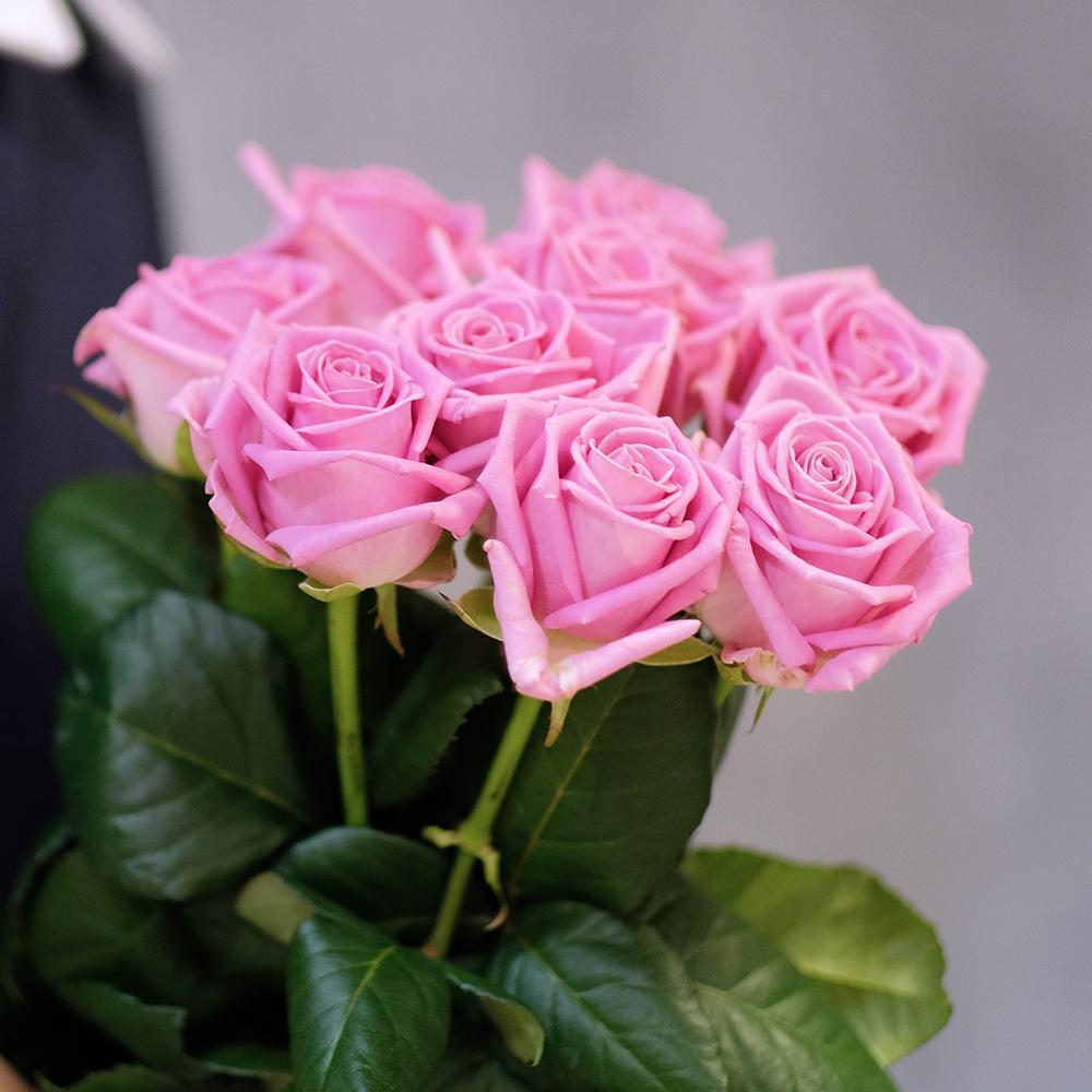 Купить недорогой букет 9 розовых роз Пермь Доставка на дом круглосуточно фотоотчет