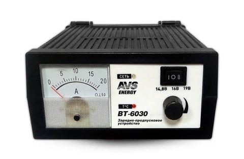 Зарядное устройство для автомобильного аккумулятора AVS BT-6030 (20A) 12V