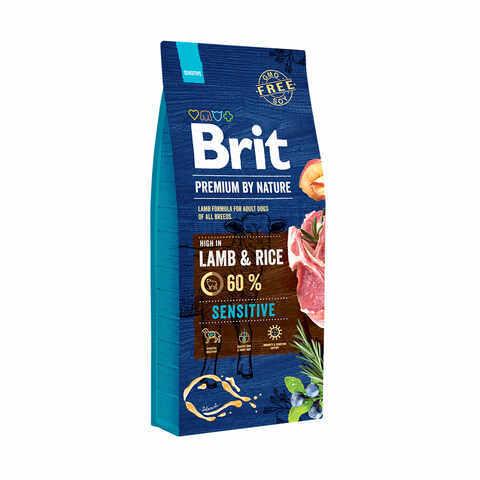 Купить сухой корм Brit Premium by Nature Sensitive Lamb & Rice для взрослых с чувствительным пищеварением