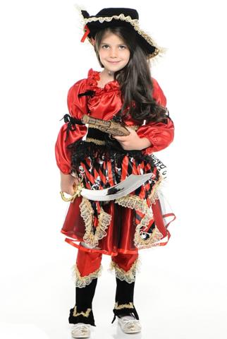 Костюм Пиратка красная