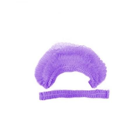 Шапочка-шарлотка одноразовая (1уп - 100шт) фиолетовая