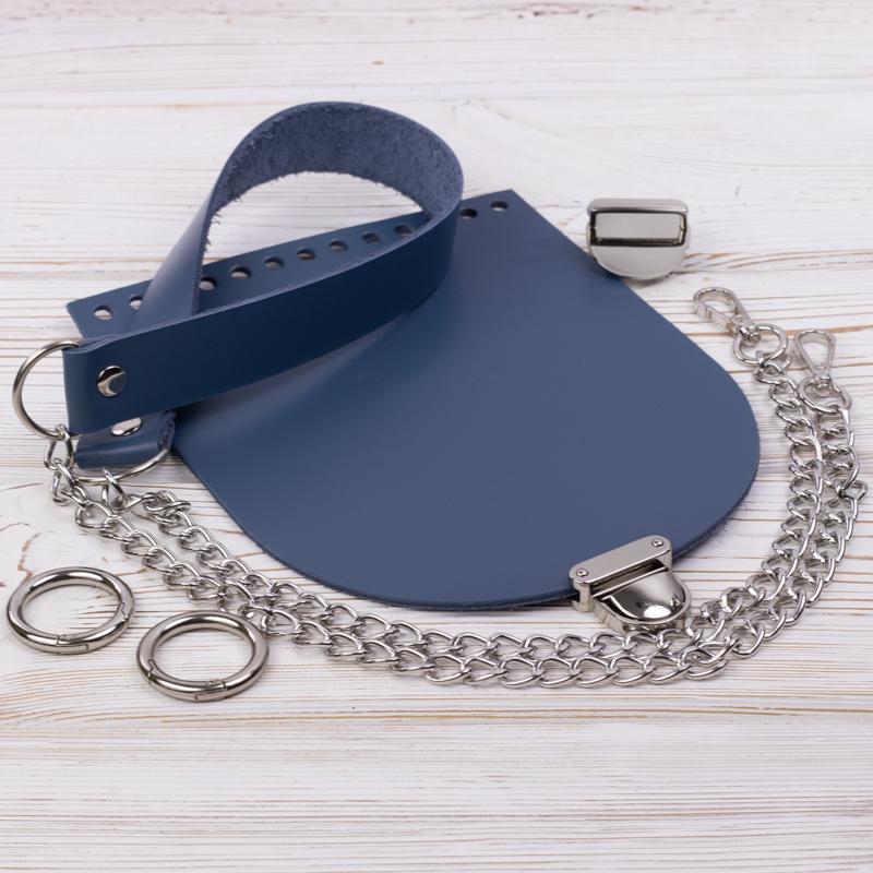"""Комплект для сумочки """"Орео"""" с бесплатным видео уроком Комплект для сумочки Орео """"Синий"""" N2 IMG_7110.jpg"""