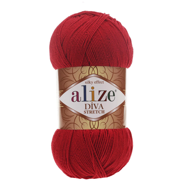 Пряжа Alize Diva Stretch красный 106