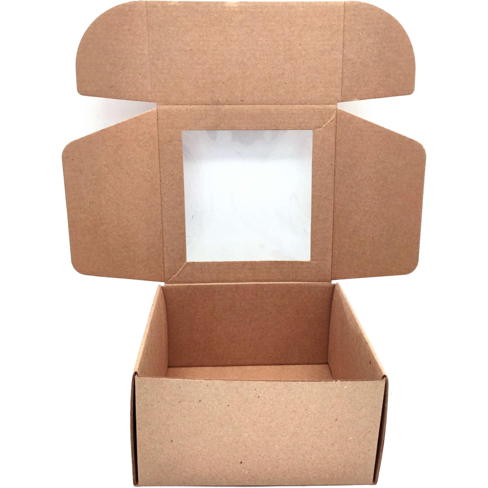 Коробка с окошком 150х150х80 (фото 2)