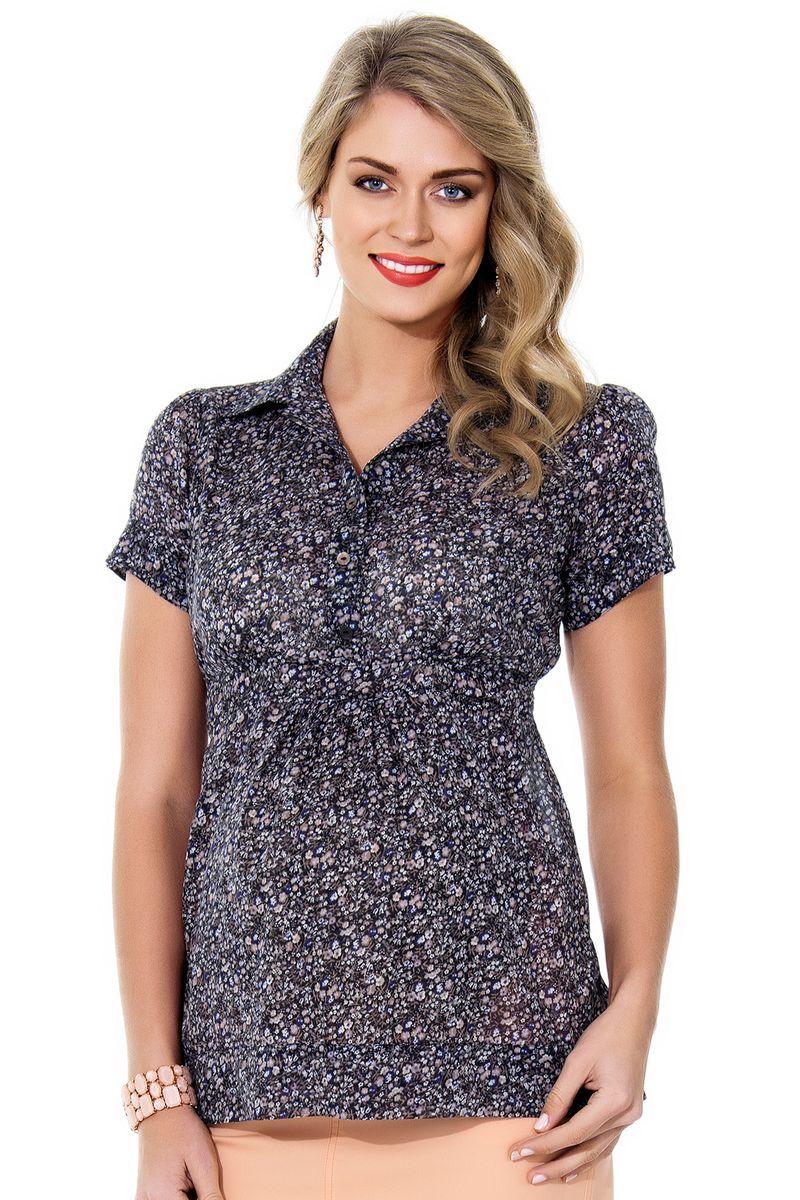 Блузка для беременных 01364 цветочный принт