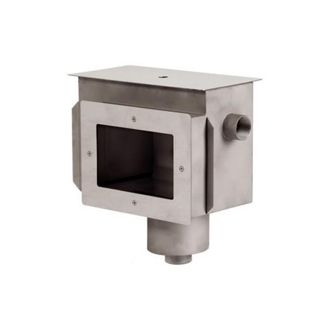 Скиммер нержавеющая сталь AISI-304 с камерой долива и переливным желобом внутреннее подключение 2