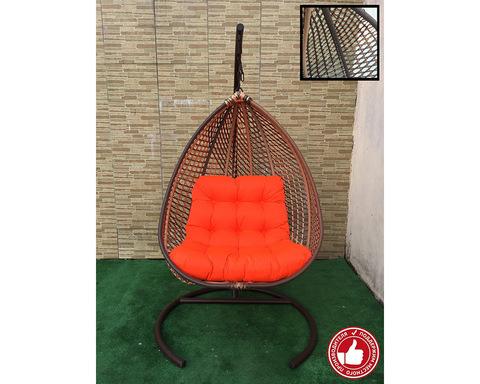 Подвесное кресло Сакала Cross бежево-коричневое