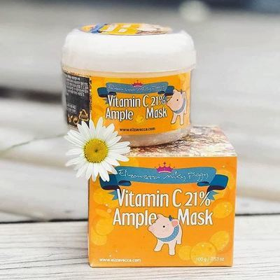 Осветляющая витаминная маска Elizavecca Milky Piggy Vitamin C 21% Ample Mask