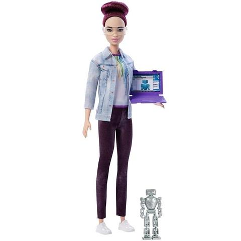 Барби Инженер по Робототехнике с Фиолетовыми Волосами