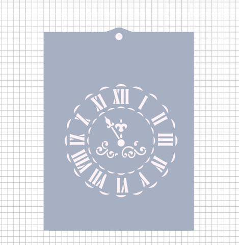 Трафарет №1159 - Новогодние часы