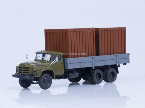 ZIL-133GYa board and 2 containers of 5 tons AutoHistory 1:43