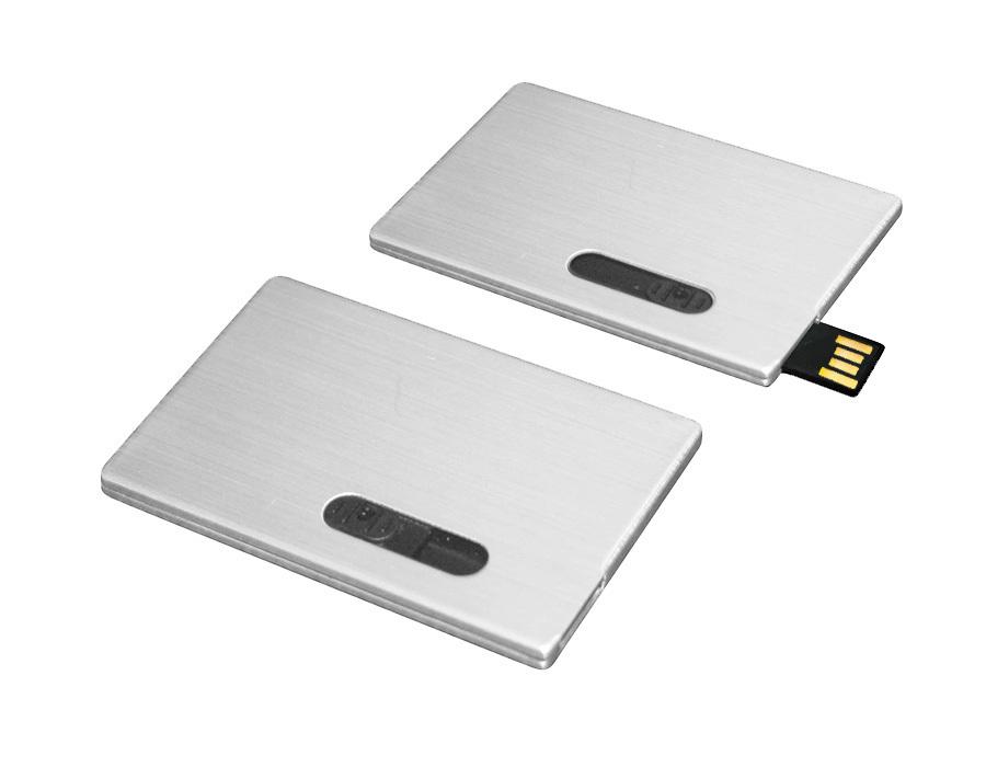 usb-флешка визитка металлическая mini