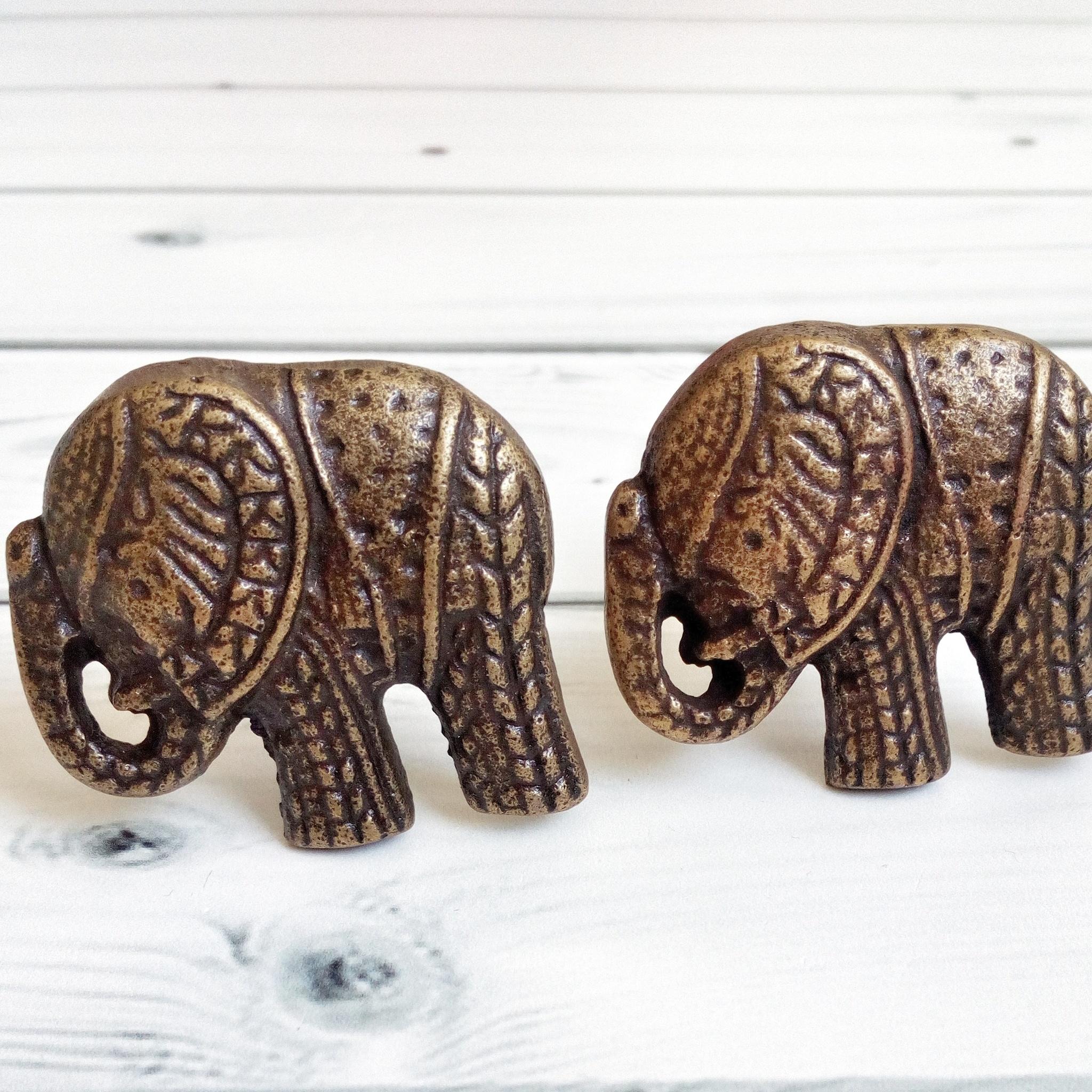 Ручка мебельная металлическая - слон, арт. 000803