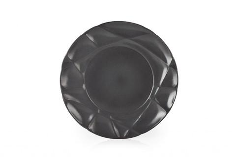 Фарфоровая обеденная тарелка  26 см, черная, артикул 650727, серия Succession