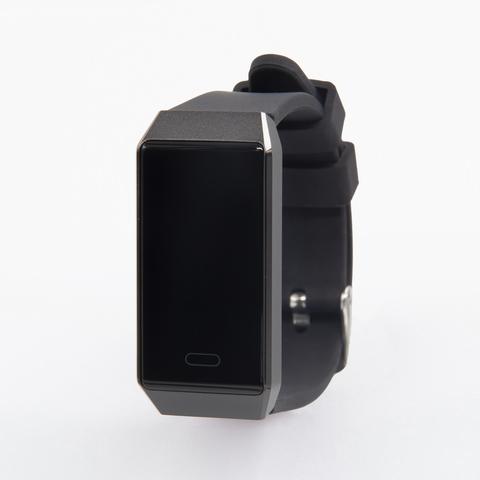 Браслет здоровья с автоматическим измерением давления, пульса и контролем аномального пульса Health Band №9 (чёрный)